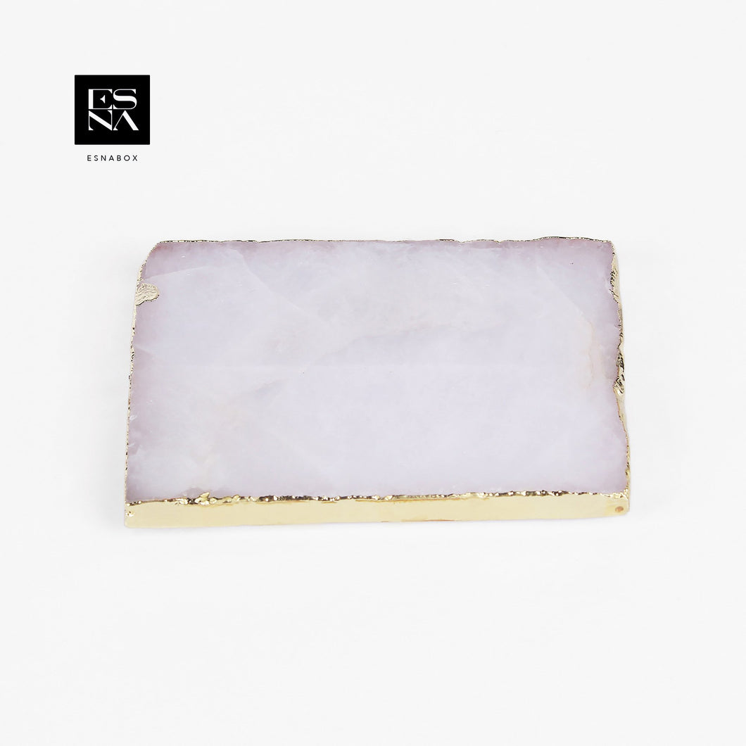 ESNA BOX | CRYSTAL COASTER WHITE 2PCS | IN030