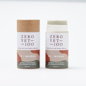 ZEROYET100 | Natural Deodorant Paper Stick | Z2 Woods