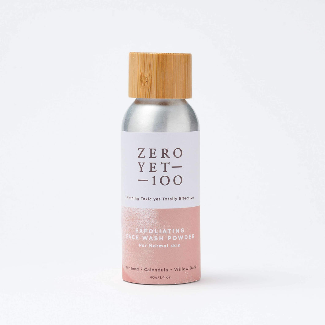ZEROYET100 | Exfoliating Face Wash Powder