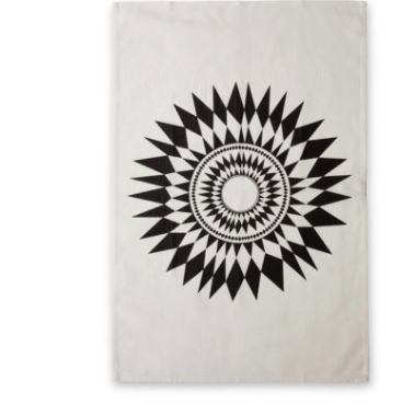 ISAK | Black Sun Tea Towel