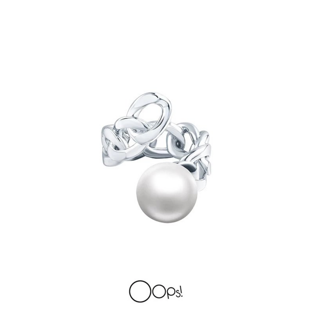 OOPS JEWELRY | Ring | Rock Pearl and Chain Ring