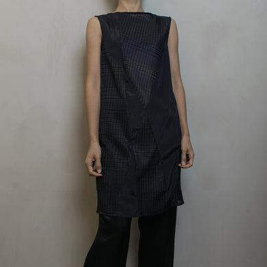 FORME DE FLUIDITÉ | Double-texture Long Sleeveless Top