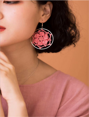 SHOKAY | Floral Series Petal Earrings | Coral