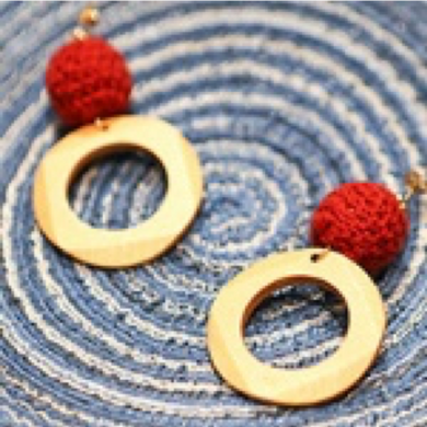 SHOKAY | Earrings | Red