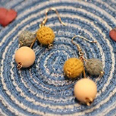 SHOKAY | Earrings | Yellow & Grey & Wood
