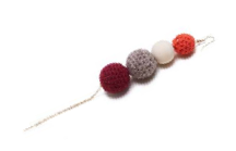 SHOKAY | Urban Charu Earrings | Wine Red & Grey