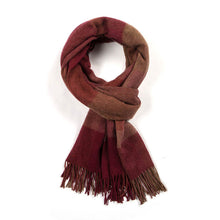 Load image into Gallery viewer, SHOKAY | Shawl | Serene Plaid (Apricot/Rust/Maroon/Dusty Pink)