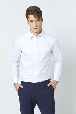 SHOKAY | SHOKAY LAB TRANSITIONAL COTTON MENS SLIM FIT  SHIRT (WHITE) | AM-ST-TC_AL