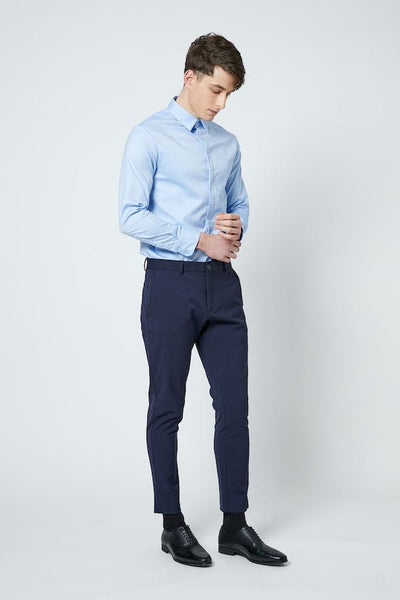 SHOKAY | SHOKAY LAB TRANSITIONAL COTTON MENS SLIM FIT  SHIRT (LIGHT BLUE) | AM-ST-TC_SK