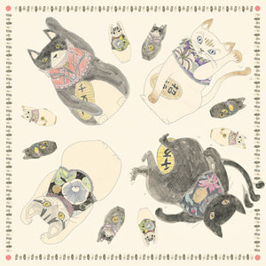 ASAKURA SENPU | The Cats Of Wealth Furoshiki