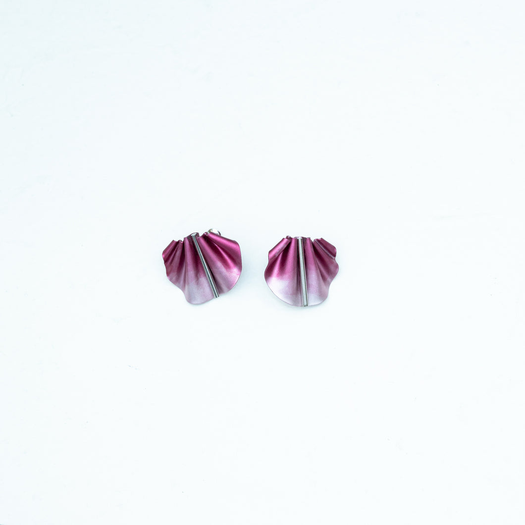 CABO | Mernaid's Tail Clip on Earrings | Red