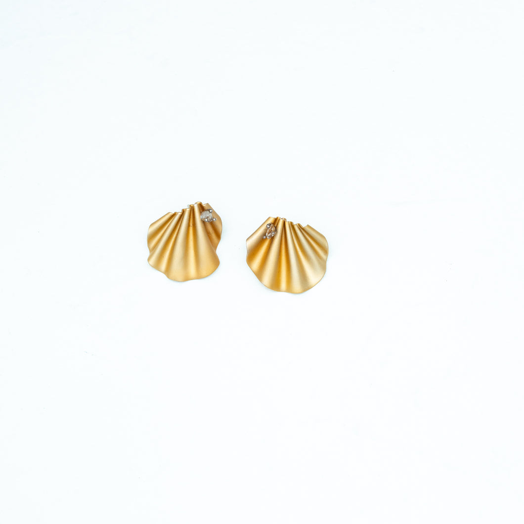 CABO | Mermaid's Tail Herkimer Earrings| Gold