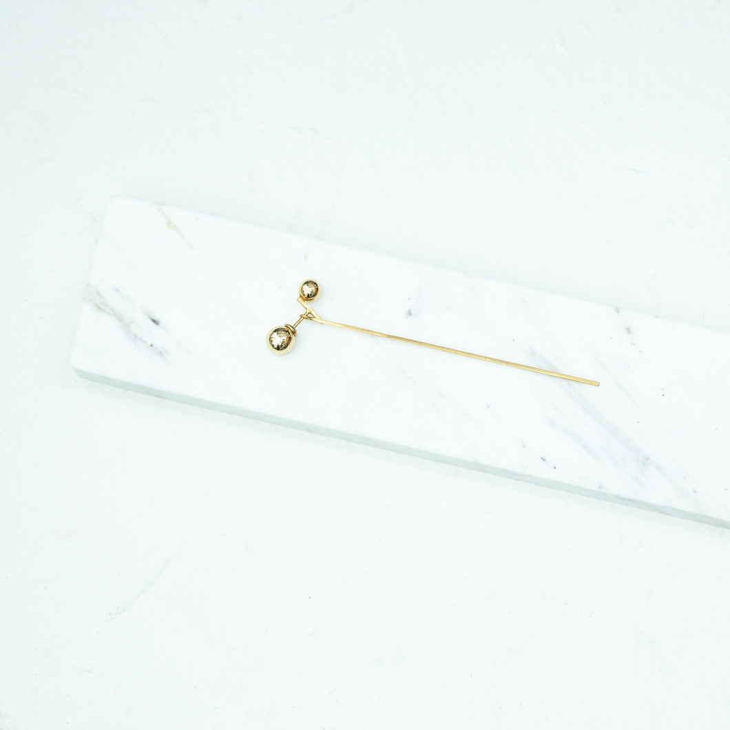 CABO | Water Ball Stick One Earrings | Gold