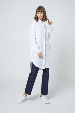 SHOKAY | SHOKAY LAB TRANSITIONAL COTTON OVERSIZED SHIRT DRESS (WHITE) | AW-DR-TC_AL