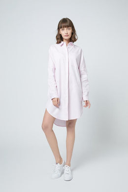 SHOKAY | SHOKAY LAB TRANSITIONAL COTTON OVERSIZED SHIRT DRESS (PINK) | AW-DR-TC_NP