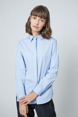 SHOKAY | SHOKAY LAB TRANSITIONAL COTTON WOMEN SLIM FIT  SHIRT DRESS (LIGHT BLUE) | AW-ST-TC_SK