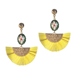 KASIDO | Earrings (Yellow shine )