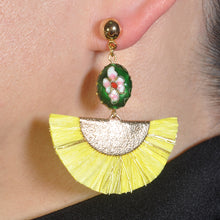 Load image into Gallery viewer, KASIDO | Earrings (Yellow shine )