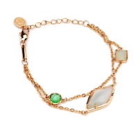 TRACEY CHEN | GEOMETRY BRACELET OF BURMA JADEITE MIXED SHAPE (ROSEGOLD) | G060