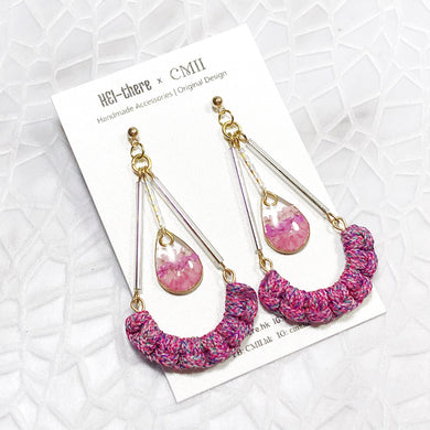 HEI THERE | Triangle Earrings | Pink