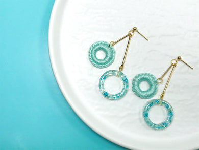 HEI THERE | Double Count Earrings | Baby Blue