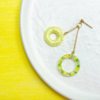 HEI THERE | Double Dount Earrings | Yellow