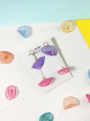 HEI THERE | Blossom Earring | Purple & Magenta
