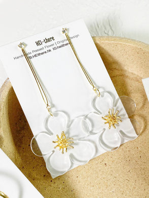 HEI THERE | The Pure Garden Earring | White & Yellow