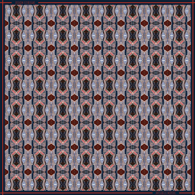 INVISIBILIS MOVERÉ | SILK SCARF LOCATION : LIPPO CENTER COLOUR : MULTI | IM1901WSV02_60