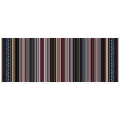 INVISIBILIS MOVERÉ | SILK CHIFFON SCARF LOCATION : STRIPY COLOUR : MULTI | IM1901WSV07