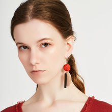 Load image into Gallery viewer, SHOKAY | Urban Charu Earrings | Corel Red