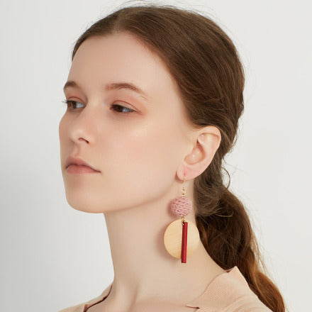 SHOKAY | Urban Charu Earrings | Corel Red