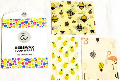 ALSKA DU & JAG | Beeswax Food Wrap- Assorted Set of 3 Sizes (S, M, L)