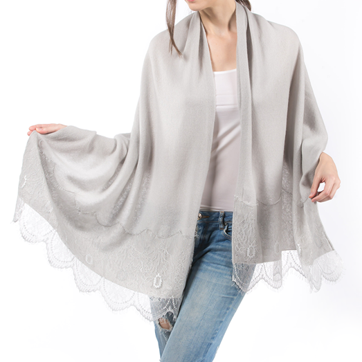 PRIMEE | LACE SHAWL ( GREY ) | MEE18023