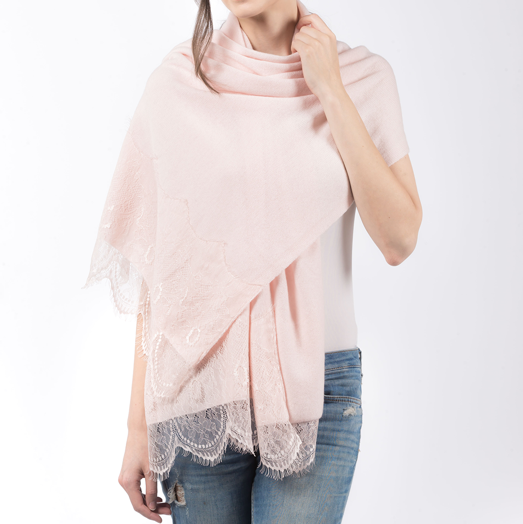 PRIMEE | LACE SHAWL ( BABY PINK ) | MEE18023