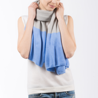 PRIMEE | UNISEX SCARF ( GREY / LIGHT BLUE ) | MEE18024