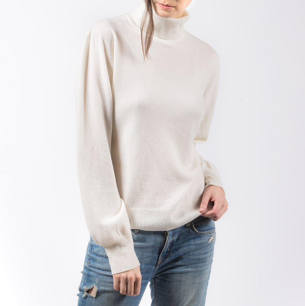 PRIMEE | TURTLE NECK TOP ( IVORY ) SIZE S | MEE18033