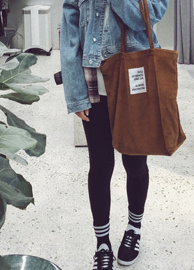 VM | Corduroy Shopping Bag