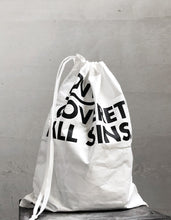 Load image into Gallery viewer, VM | DuPont Drawstring Bag | LOVE COVER ALL SINS