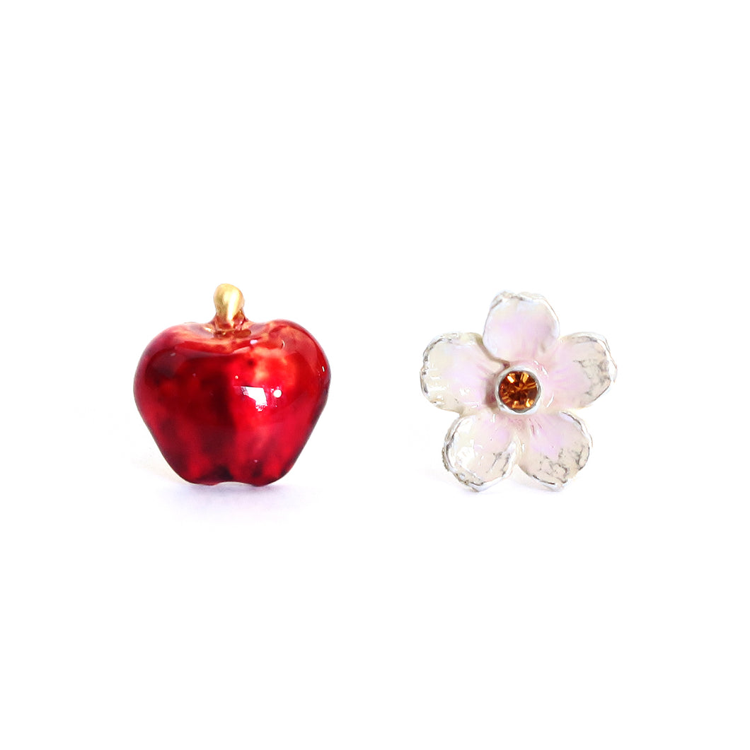 PALNART POC | Pierced Earrings | Flower & Apple