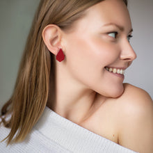 Load image into Gallery viewer, VALONA | Pilke Earrings | Drop | Red
