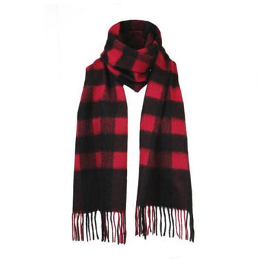 SHOKAY | Scarf | Serene Buffalo Check (Cranberry/Nocturne)