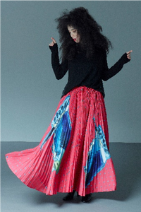 CANACO | Skirt with Accordion Pleats