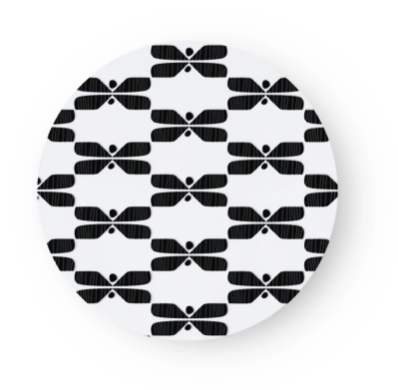 SAGALAGA | Round Perhonen Trivet (Black/ Blue/ Gray)