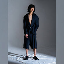 Load image into Gallery viewer, VINCENT LI | Cropped Shoulder Summer Jacket | Pinstripe