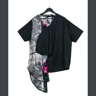 VINCENT LI | Soundwave Prints Top