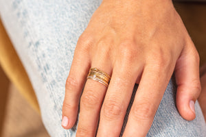 ZOAJE | Asia Semainier 7 Ring Set (Gold)