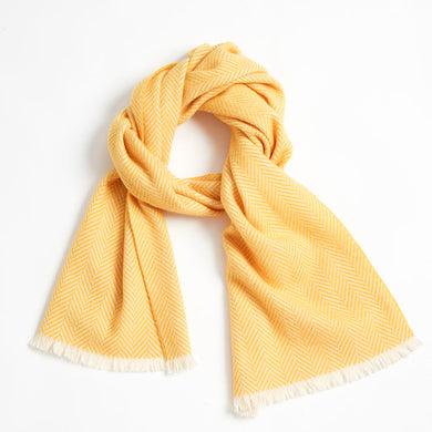 SHOKAY | Scarf | Highland Herringbone (Yellow)