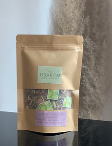 TISARÔM | Soothing Linden & Strawberry Spearmint Mix Kraft Bag | Tranquilitea