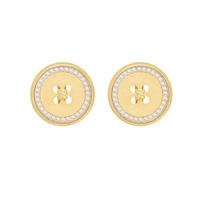 OOPS JEWELRY | Button Clip-On Earrings | Gold